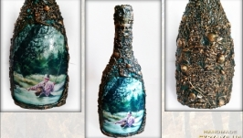 Подарок рыбаку Декор бутылки рыбацкой тематики