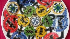 Декоративная тарелка с росписью ′Кельтская вязь′