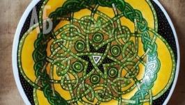 Декоративная тарелка с росписью ′Кельтская Вселенная′
