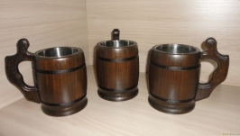 Кружка деревянная Викинг 550 мл
