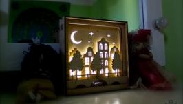 Ночной светильник в детскую комнату ′Старый город′