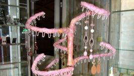 Подставка для серег «Розовое Дерево» ручной работы