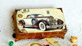 Шкатулка купюрница ′Ретроавто′