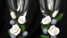 Свадебные бокалы (оформления)