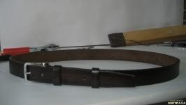 006 M BR35 Мужской кожаный ремень для брюк коричневый 35 мм
