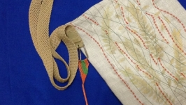 Текстильная сумка с растительным гербарием ′Просто листочки′