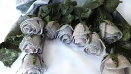 «50 відтінків сірого» набір палантин, сумка, брошка