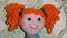 Вязаная кукла Даша