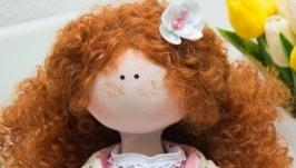 Текстильная кукла Веснушка