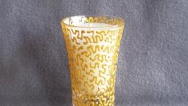 Свеча в стопке ′шутер′. Коллекция ′Золотые кружева′