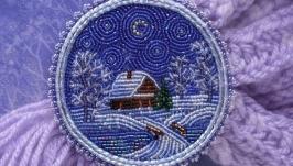 Брошь ′Зимняя ночь′