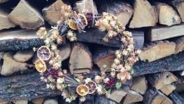 Осенний венок, декор для дома