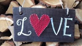 Деревянная табличка любимым, подарок, декор дома