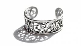 Ажурное кольцо с орнаментом из нейзильбера с регулируемым размером