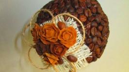 Топиарий мз зерен кофе, подарок, сувенир