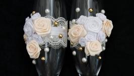 Весільні бокали для шампанського арт. 9001