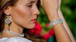 сет ′Жозефина′ - серьги, браслет, чокер