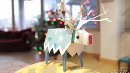 Новогодняя игрушка-поделка на елку Олень