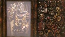 Фоторамка в стиле Стимпанк (Steampunk). Оригинальный подарок