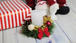 Корпоративные подарки, рождественский подсвечник из хвои