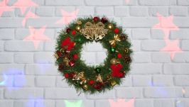 Рождественский венок на двери, Новогодний венок