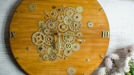 Часы настенные в стиле лофт ′Gold of time′
