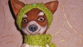 Собачка фигуристка. Текстильная игрушка. Год собаки.