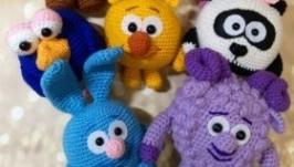 Вязаные смешарики Вязаная игрушка смешарик Нюша Крош Лосяш Копатыч Игогоша