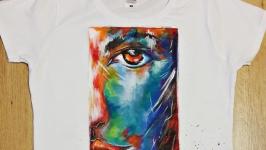 Эксклюзивная футболка с ручной росписью ′Ярко′