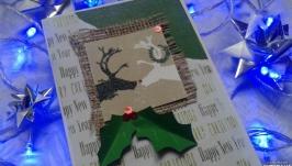 Новорічна листівка ′Закохані олені′