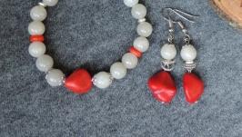 Комплект, браслет и серьги