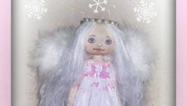 Рождественский ангел, текстильная кукла