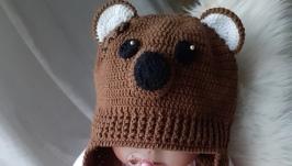 Шапочка для новорожденного ′Мишка Тедди′