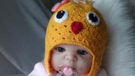 Шапочка для новорожденного ′Chicken′