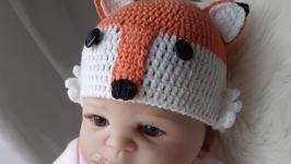 Шапочка для новорожденного ′Fox′