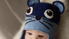 Шапочка для новорожденного ′Mouse′