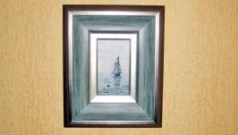 Картина Куинджи ′Море с парусным кораблем′