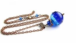 кулон Марблс синий полый лемпворк (КЦ17_8)