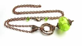 кулон зеленый полый лемпворк (КЦ17_9)