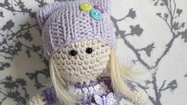 Куколка малышка ( в фиолетовом)