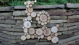 Панно фігурне з дерев′яних спилів з двох частин