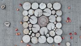 Панно із дерев′яних спилів квадратне