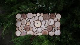 Панно прямокутне з дерев′яних спилів