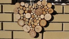 Панно із дерев′яних спилів ′Серце′
