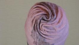 шапочка женская валяная шерстяная теплая тонкая