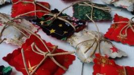 Саше с мятой новогоднее для адвент календаря, аромасаше
