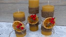 Набор свечей из воска