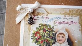 Крафтлистівки новорічні з підвісками