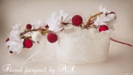 Венок в стиле ′Рустик′ с сахарными ягодками