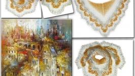 Мини-шаль ′Осенний город′